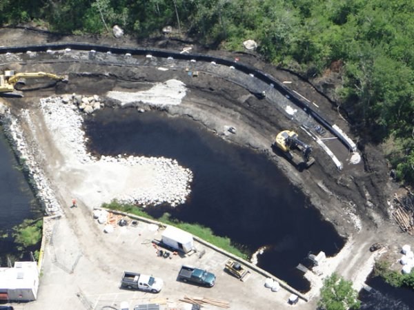 Kenyon Mill Dam Under Construction