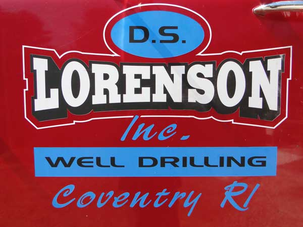 Lorenson Well Digging has a shiny, red truck, too!